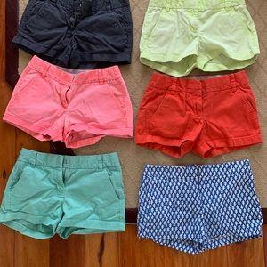 "4"" J. Crew Chino Shorts Women (Blue/white pattern)"